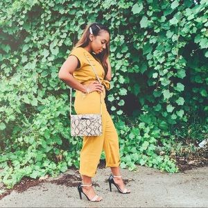 Mustard Short Sleeve Jumpsuit (only worn once)